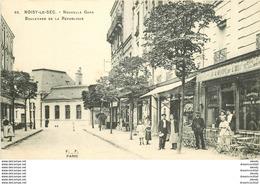 WW 93 NOISY-LE-SEC. Gare Et Café Chope De L'Est Boulevard De La République - Noisy Le Sec