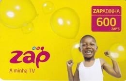 Angola, Zapadinha 600 Zap's, TV Acces Card, 2 Scans.  Expiry : 2012/12/31 - Angola