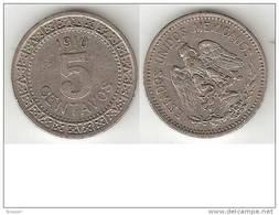 *mexico 5 Centavos 1910  Km 421  Vf - Mexico