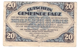 Österreich Austria Notgeld 20 HELLER FS721 PARZ /192M/ - Autriche