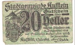 Österreich Austria Notgeld 20 HELLER FS491 KUFSTEIN /191M/ - Autriche