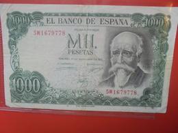 ESPAGNE 1000 PESETAS 1971 CIRCULER (B.11) - 1000 Pesetas