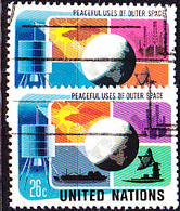 UN New York - Friedliche Nutzung Des Weltraums (MiNr: 279/80) 1975 - Gest Used Obl - New-York - Siège De L'ONU