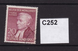 West Germany 1952 Humanitarian Relief Fund 20+10pf - Used Stamps