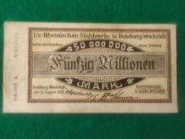 50.000.000 MARK DUISBURG - [ 3] 1918-1933 : República De Weimar
