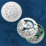 Autriche 2020 : 3€ 'Dinosaure' ('Mosasaurus') Colorisée - Disponible En France - Autriche