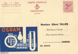 Publibel 1896 - OSRAM - MARQUAGE -  NON VOYAGE - NAMUR. - Publibels