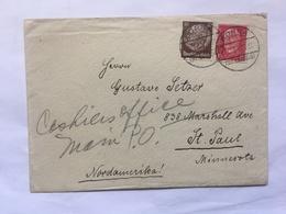 GERMANY 1934 Cover Borna To St. Paul Minnesota USA - Germany