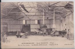 LA MADELEINE-LILLE - Automobiles René Marion Garage Rue Du Près-Catelan Forge Automobile Voiture Camion - La Madeleine