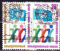 UN New York - 30 Jahre UN (MiNr: 283/4A) 1975 - Gest Used Obl - New-York - Siège De L'ONU