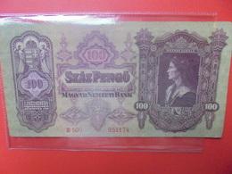 HONGRIE 100 Pengö 1930 CIRCULER (B.11) - Hongrie