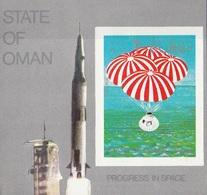Oman 1969 Bf. Ammaraggio Apollo 11 Sheet Imperf. Nuovo - Oman