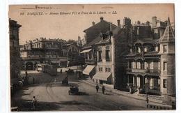 BIARRITZ AVENUE EDOURD VII PLACE DE LA LIBERTE TRAM  TRES ANIMEE - Biarritz