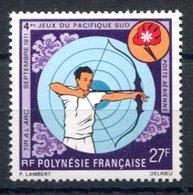 RC 16273 POLYNESIE COTE 17€ PA N° 53 TIR A L'ARC PROVENANT DE BLOC N° 2 NEUF ** TB MNH VF - Ongebruikt