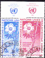 UN New York - Frienden Erhltende Maßnahmen (MiNr: 287/8) 1975 - Gest Used Obl - New-York - Siège De L'ONU
