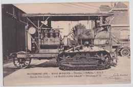 LA MADELEINE-LILLE (Nord) - Automobiles René Marion Rue Du Près-Catelan Tracteur à Chenilles Holt Tractor Engine - La Madeleine
