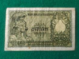 Italia  50 LIRE 1951 - [ 2] 1946-… : Repubblica