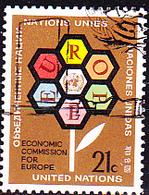 UN New York - 25 Jahe ECE (MiNr: 251) 1972 - Gest Used Obl - New-York - Siège De L'ONU