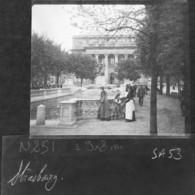 Alsace Vue Animée, Strasbourg Années 1910 ,photo Originale (sur Plaque De Verre) - Glass Slides