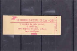 France -1983 -Type Liberté -2 Fr Rouge - N°YT 2274-C3 - 10 Timbres- N° Conf 9 - Carnets