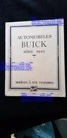 Couverture Carton Publicitaire Voiture Automobile Américaine Automobiles BUICK 1923 Modèles 6 Cylindres GENERAL MOTORS - Plaques En Carton