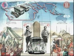 Czech Republic 2019 Transport, Cars, Tatra Car, Personalities, Jiri Hanzelka, Miroslav Zikmund, Map - Auto's