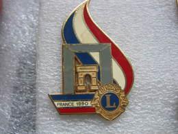 Pin's Drago, Arc De Triomphe Avec Le Lion's Club International De France En 1991 - Citroën