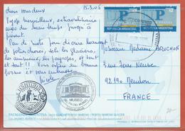 ARGENTINE CARTE DE 2005 DE USHUAIA ,TERRE DE FEU POUR MEUDON FRANCE - Storia Postale