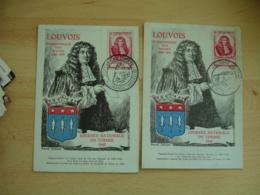 Lot De 6 , 1947 , Esbly  Castres Lyon  Paris Algrange Louvois Journee Timbre Cm Carte Maximum - Maximumkaarten