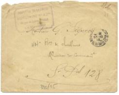 WW1 / HOPITAL ST GEORGE AUXILIAIRE N°42 ROUEN 1915 POUR 44° BATAILLON DE CHASSEURS SP 128  / FRANCHISE MILITAIRE - Marcophilie (Lettres)