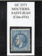 Côte-d'Or - N° 29A Obl GC 2571 Moutiers-Saint-Jean - 1863-1870 Napoléon III Lauré
