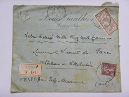 Enveloppe à En-tête De Louis Gauthier, à Lusigny (Aube), Recommandé, Cachets Troyes, Lusigny, Isle-Aumont - 1915 - 1877-1920: Période Semi Moderne