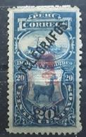 PERU PEROU, 1896, TELEGRAFOS, Timbre Taxe LAMA ,20 C Bleu Surchargé + Surcharge Rouge CALLAO ? ,neuf * MH TB - Peru