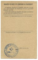WW1 / BULLETIN DE SANTE D'UN MILITAIRE EN TRAITEMENT / HOPITAL MILITAIRE 16 - Marcophilie (Lettres)