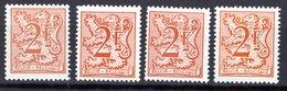 1903 + 1903P6 + 1903P6a +1903 P7** Neufs Sans Charnières - Neufs