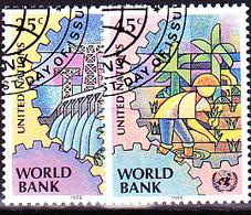 UN New York - Weltbank (MiNr: 571/2) 1989 - Gest Used Obl - New-York - Siège De L'ONU