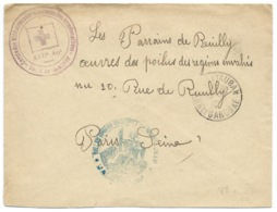 WW1 / CACHET CERCLE DES MILITAIRES CONVALESCENTS DES ARMEES ALLIEES / MONTAUBAN POUR PARIS - Marcophilie (Lettres)
