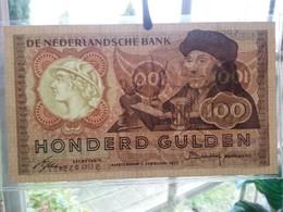 :Netherlands  -  100 Gulden 1953 'Erasmus' Prachtig ++ - [2] 1815-… : Kingdom Of The Netherlands