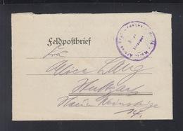 Dt. Reich Feldpostbrief 1918 Continental Pneumatik - Deutschland
