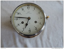 Réveil Ou Pendule De Marine - Diamètre 16cms (voir Photos Et Désignation Ci-dessous) - Horloges