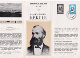 2 Scans Feuillet Poste FDC 1382 1383 Eurochemic Professeur Kerkule - 1961-70