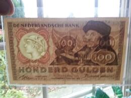 :Netherlands  -  100 Gulden 1953 'Erasmus' Prachtig + - [2] 1815-… : Kingdom Of The Netherlands