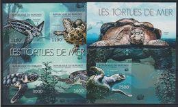 V965. Burundi - MNH - Animals - Reptiles - Turtles - 2012 - Imperf - Other