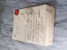 Rare Lettre à étudier Pour Un Comte à Avignon Non Taxée Croix Rouge? - Marcophilie (Lettres)