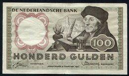 :Netherlands  -  100 Gulden 1953 'Erasmus' 2-2-1953 - [2] 1815-… : Regno Dei Paesi Bassi