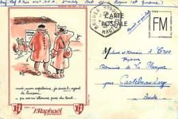 210320 - MILITARIA GUERRE 1939 45 FM Pub ST RAPHAEL QUINQUINA Illustration Poilu ROQUES 31 - Marcophilie (Lettres)