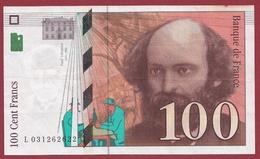 "100 Francs ""Cézanne"" 1997 ---TTB+--ALPH -L Numéro .0031262622 - 1992-2000 Ultima Gama"