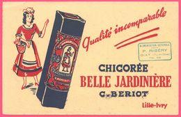 BUVARD Illustré - BLOTTING PAPER - Chicorée Belle Jardinière C. BERIOT LILLE - P. RIBERY GIAT - Koffie En Thee