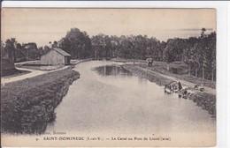 35-SAINT DOMINEUC LE CANAL AU PONT DE LINON - Autres Communes