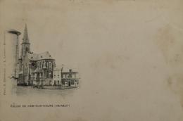 Ham Sur Heure (Nalinnes) Eglise Ca 1900 Vlekkig - Ham-sur-Heure-Nalinnes